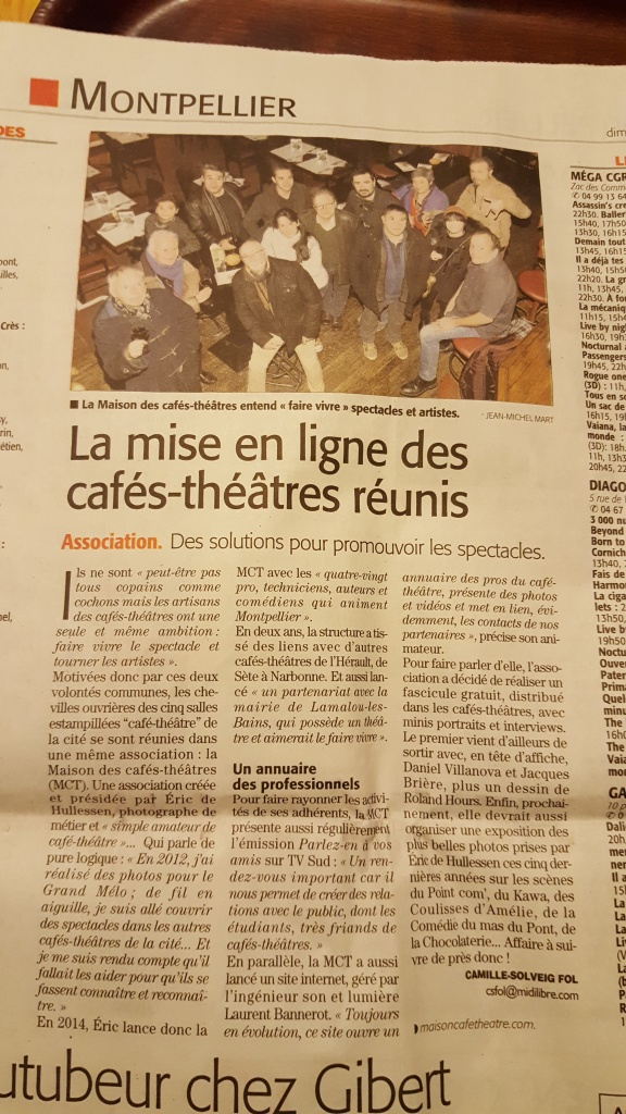 La Maison du Café-Théâtre, article Midi Libre